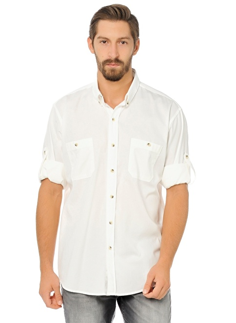 Lee Uzun Kollu Gömlek Beyaz